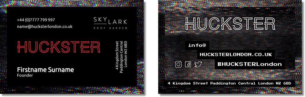 HUCKSTER Business Card Design