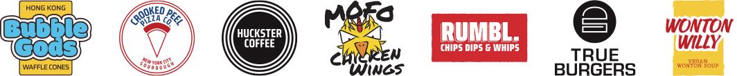 HUCKSTER Street Food Logo Designs