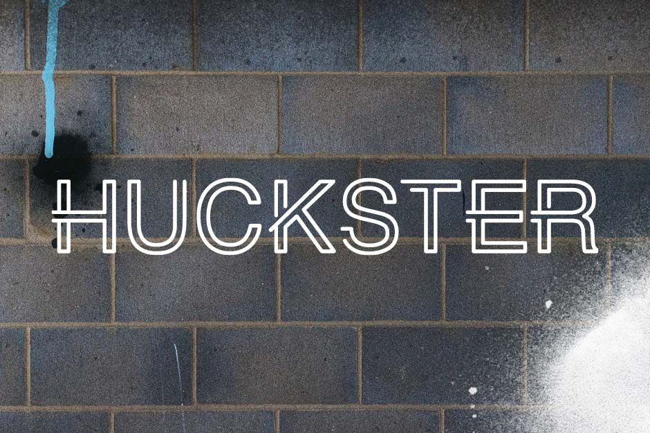 HUCKSTER London Logo and Branding Design