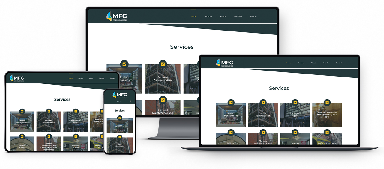 Website Design in London for MFG Surveyors