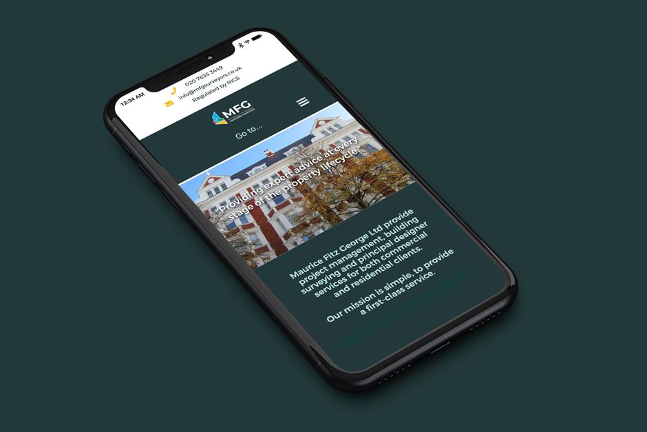 Website Design in London for MFG Surveyors