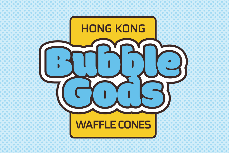 Branding and logo design in London for street food vendor, Bubble Gods