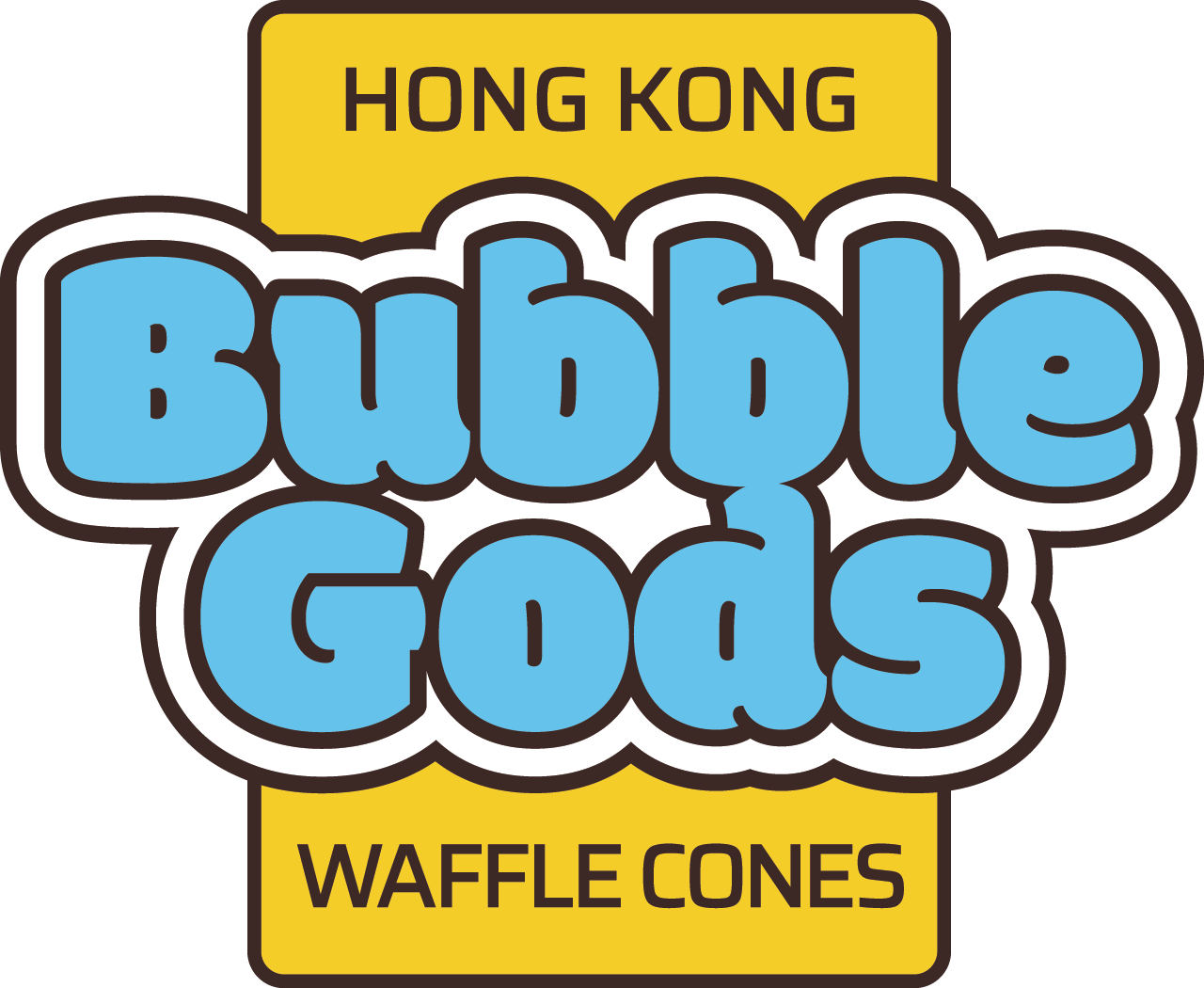 Branding design in London for street food vendor, Bubble Gods