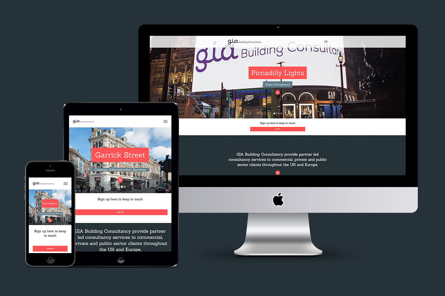 Website Design in London for GIABC nthn
