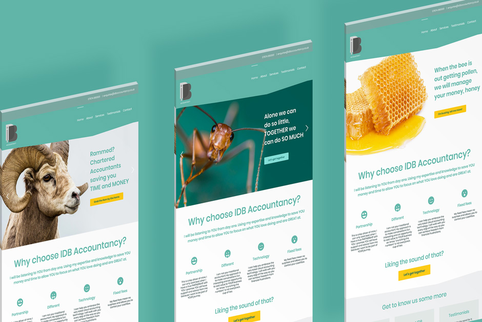 Branding and Website Design in London for IDB Accountancy
