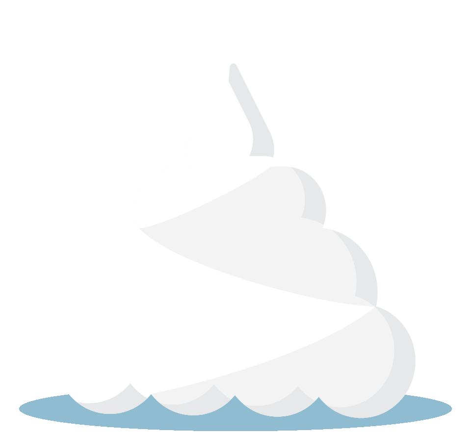 Branding design illustration in London for street food vendor, Bubble Gods whipped cream