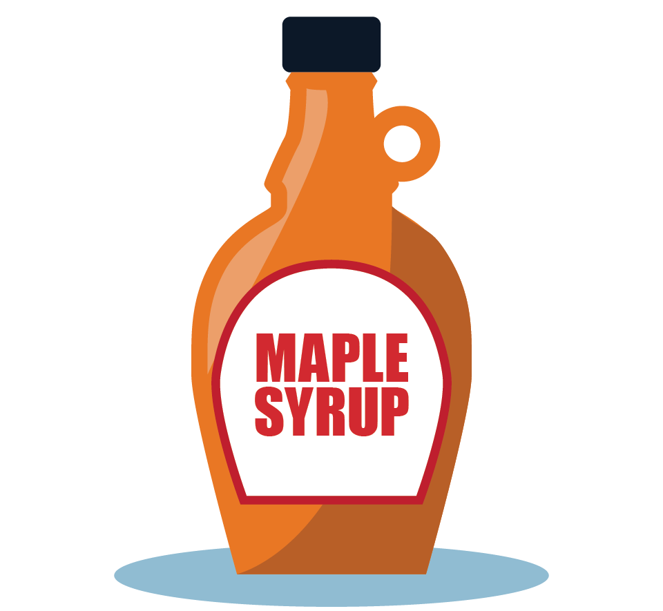 Branding design illustration in London for street food vendor, Bubble Gods Maple Syrup