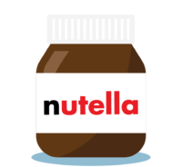 Branding design illustration in London for street food vendor, Bubble Gods nutella