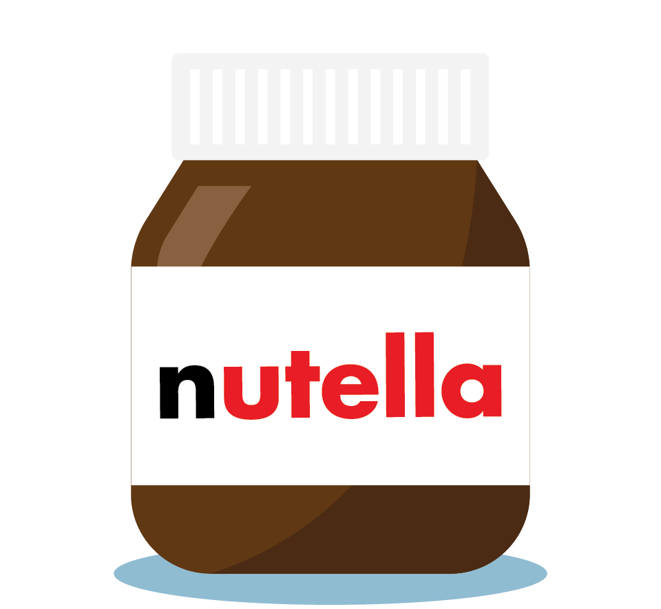 Branding design illustration in London for street food vendor, Bubble Gods nutella