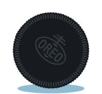 Branding design illustration in London for street food vendor, Bubble Gods Oreo