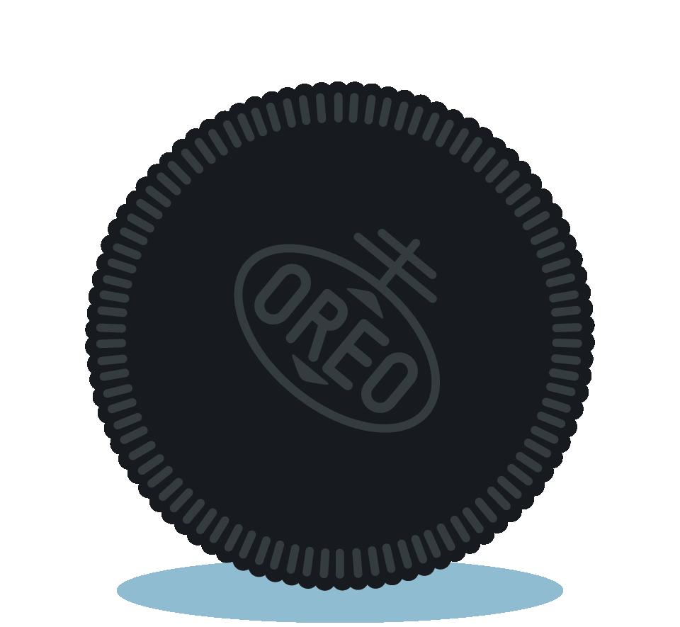 Branding design illustration in London for street food vendor, Bubble Gods Oreo