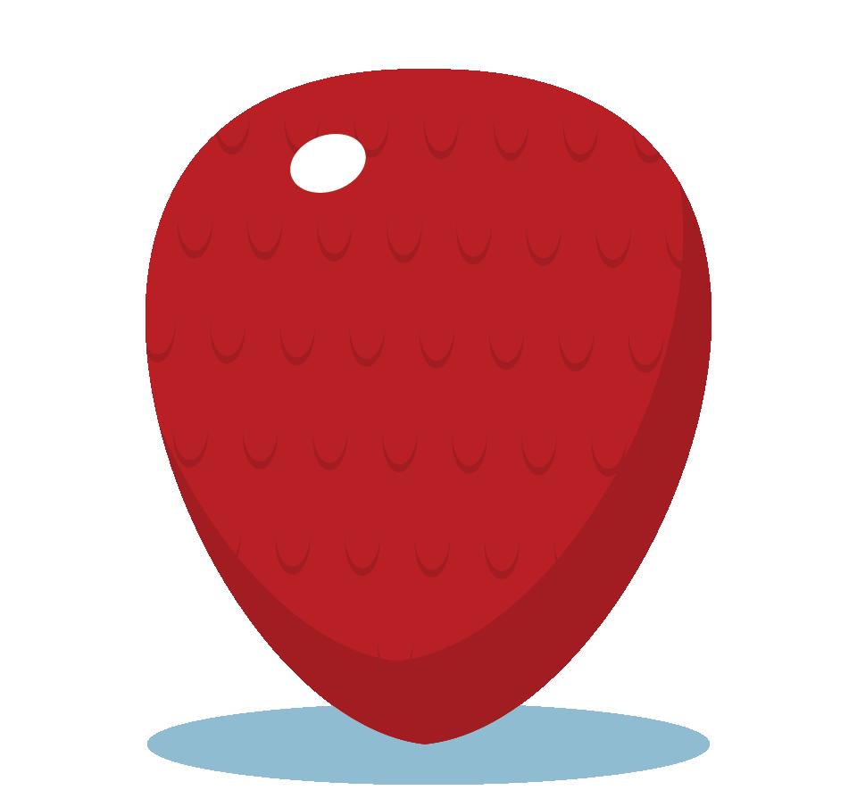 Branding design illustration in London for street food vendor, Bubble Gods strawberry